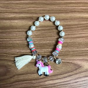 Jewelry - New unicorn clear pearl charm bracelet